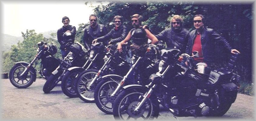 The HoltHammer Cycles Motorcycle Gang circa 1985